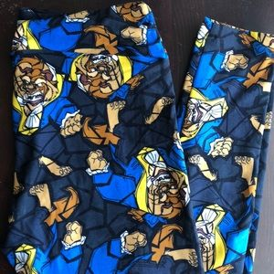 Disney Beauty and the Beast Leggings. LuLaRoe OS